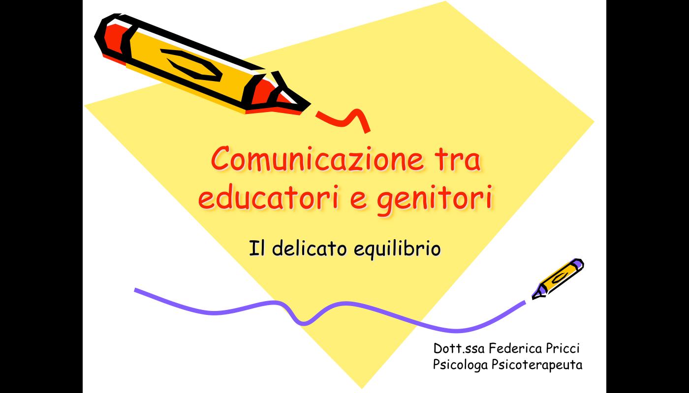 Comunicazione tra educatori e genitori
